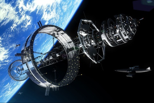 Орбитальная сборка звездолета