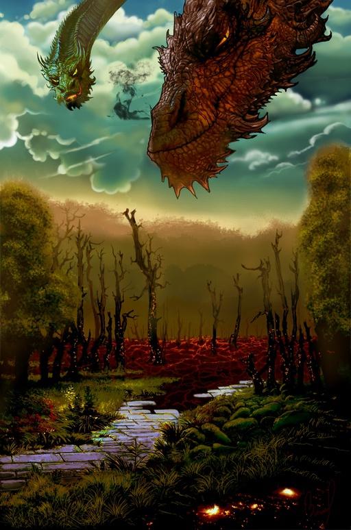 Геймплей. Игровая иллюстрация: по сюжету игрок встречает дракона.